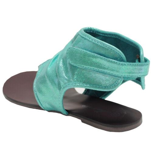 New women/'s shoes sandals t strap back closure open toe summer casual aqua blue