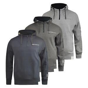 Mens-Hoodie-Crosshatch-Cravy-Sweatshirt-Hooded-Top