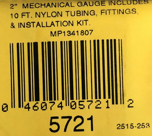 "Auto Meter 5721 Phantom Oil Pressure Gauge Mechanical  0-100 PSI 2 1//16/"""