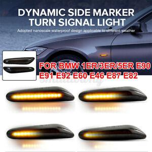 2X Dynamisch LED Seitenblinker Blinker Für BMW E46 E60 E61 E87 E90 E91 E92 E83