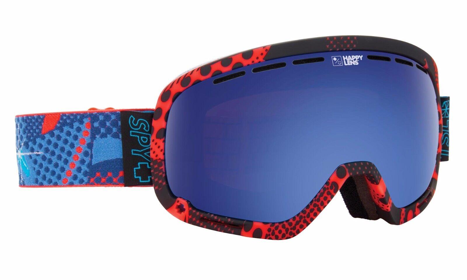 NEW  Spy Optic MARSHALL TSL VIZIE Snowboard Ski Goggle HAPPY pink DARK blueE LENS  unique shape