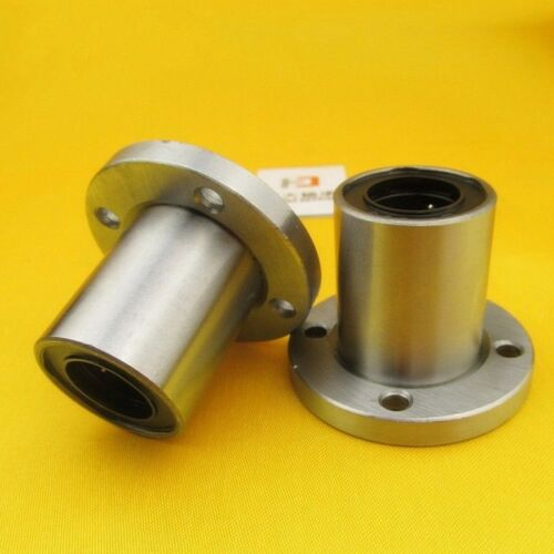 1Pcs LMF25UU Round Flange Linear Motion Bushing Ball Bearing For 25mm Shaft