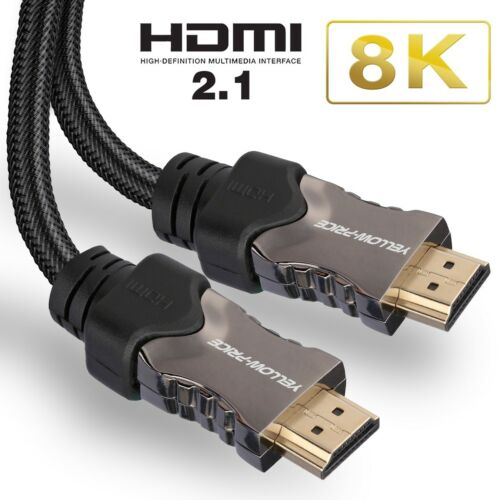 v2.1 HDMI 2.1 Cable 6 FT HDR Images Ultra-Speed 48Gbps with ETHERNET eARC