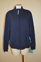 Womens Xl Prospirit Navy Blue & White Zip-up Workout/athletic Jackettop