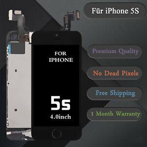 Display-fuer-iPhone-5S-mit-RETINA-LCD-Glas-Vormontiert-Komplett-Front-Schwarz