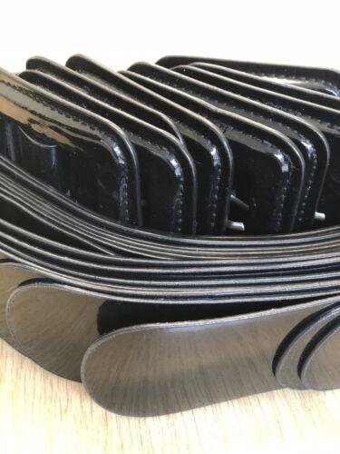 hazme saber 50s Style patente PVC tibios Cosplay Cinturón Negro 8 10 12 o al 14