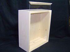 """6""""x 8""""x 3.5""""  PINE Shadowbox (PLEXIGLAS) Unfinished Wood Display Box Handmade"""
