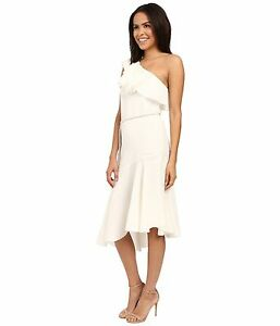 Image Is Loading Rachel Zoe White Violetta One Shoulder Dress Sz