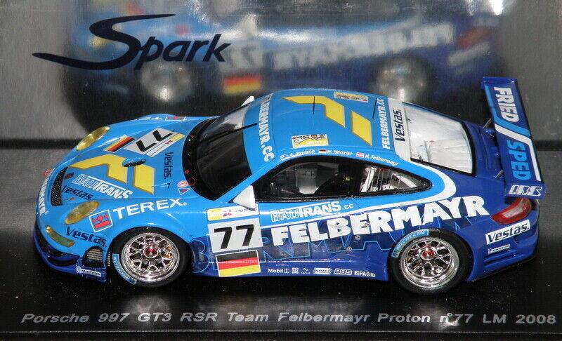 Porsche 911 997 GT3 RSR 24H du MANS LM 2008 SPARK 1 43   S1909