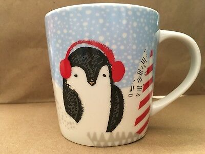 mug NWT Christmas Collection Starbucks Coffee Cup Holiday 2016 Penguin 8 oz