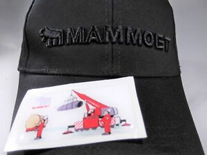 New Red Manitowoc Hat and Sticker Oilfield Union Construction Crane