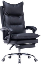 Yoleny High Back Office Chairpu Leather Executive Desk Chair Adjustable Swivel