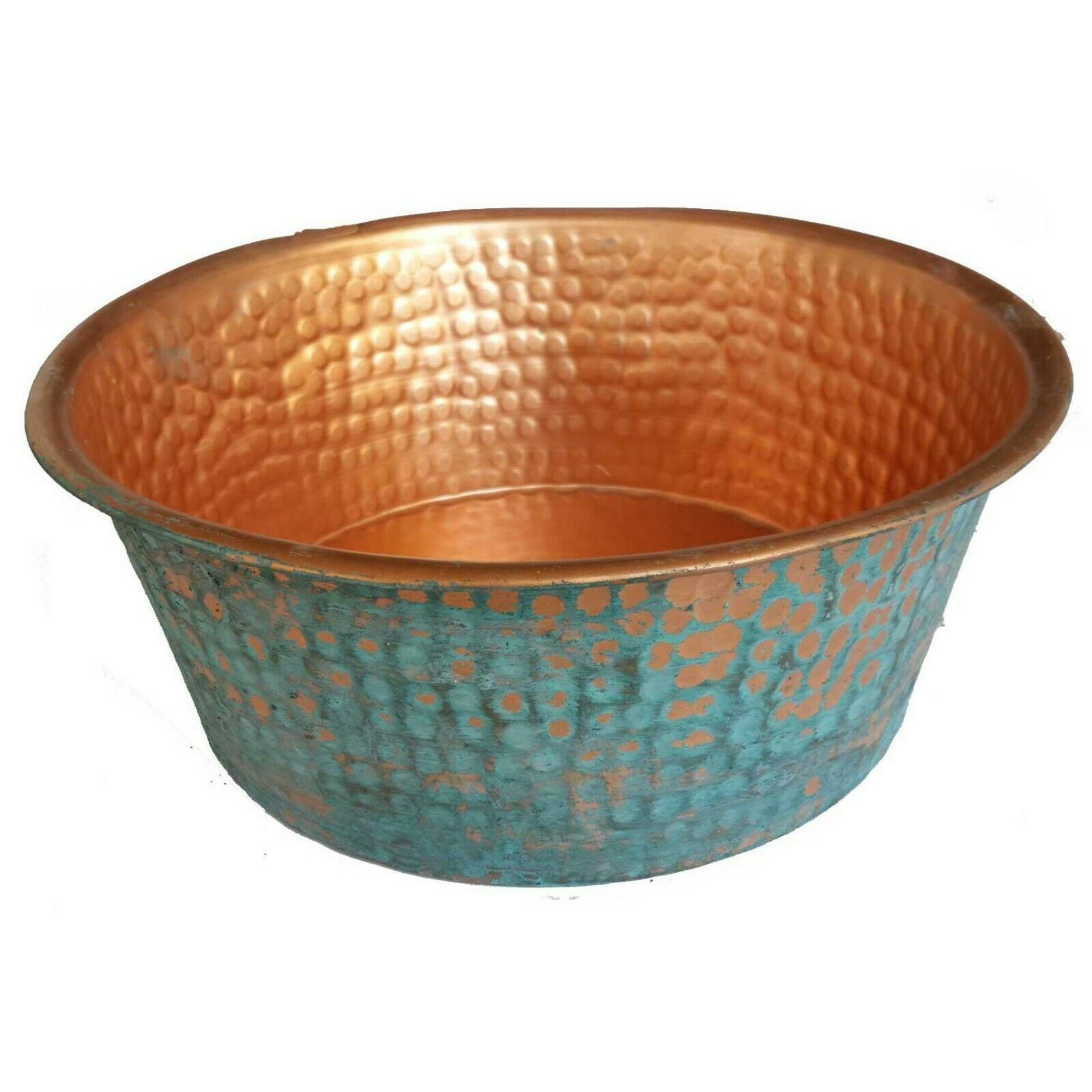 Hammerot Copper Decorative Centerpiece Kitchen Pot Garden Yard Planter