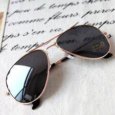 Women's Stylish Goldtone Metal Frame & Black Resin Lens Sunglasses,S5004