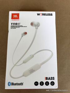 Details about NEW JBL T110BT TUNE110BT WIRELESS IN-EAR HEADPHONES PURE BASS  COLOR: WHITE