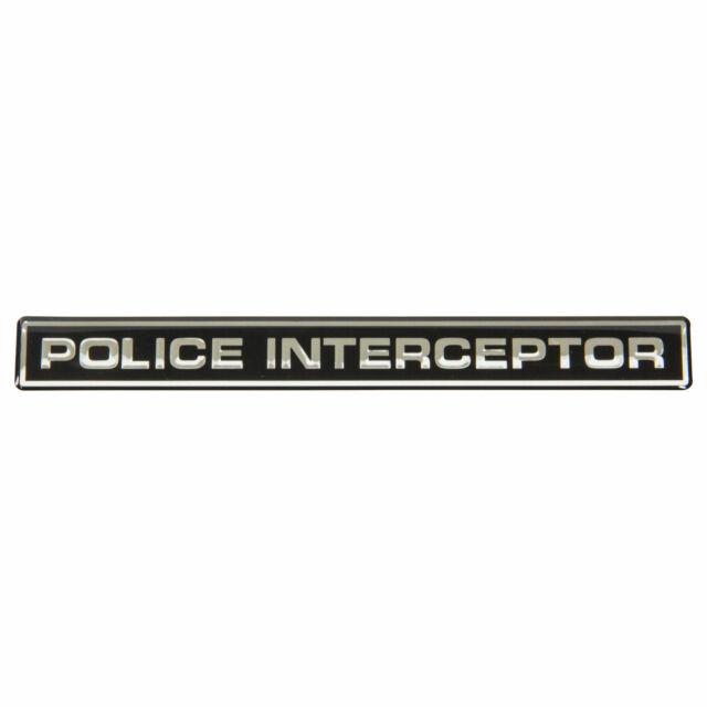 Chrome Black 2x Special Service Police Interceptor Sedan Trunk Emblem Decal 3D Badge Sticker Nameplate Replacement For Explorer Taurus Crown Victorias