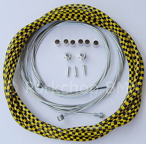 Bicycle Lined Freestyle Acs Rotor Brake Cable Kit Old School Bmx