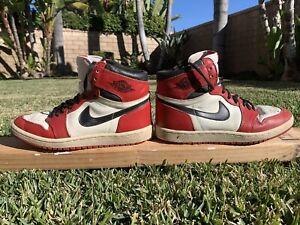 Details about 1985 ORIGINAL VINTAGE Nike Air Jordan 1 Size 7 Chicago White Black Red OG