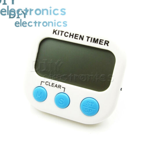 LCD Large  Digital Kitchen Timer Count-Down Up Clock Loud Magnetic US