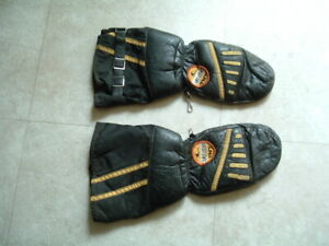 Vintage-Ski-Doo-TNT-Leather-Snowmobile-Mittens-Gloves-Choppers-Ski-Doo-SMALL