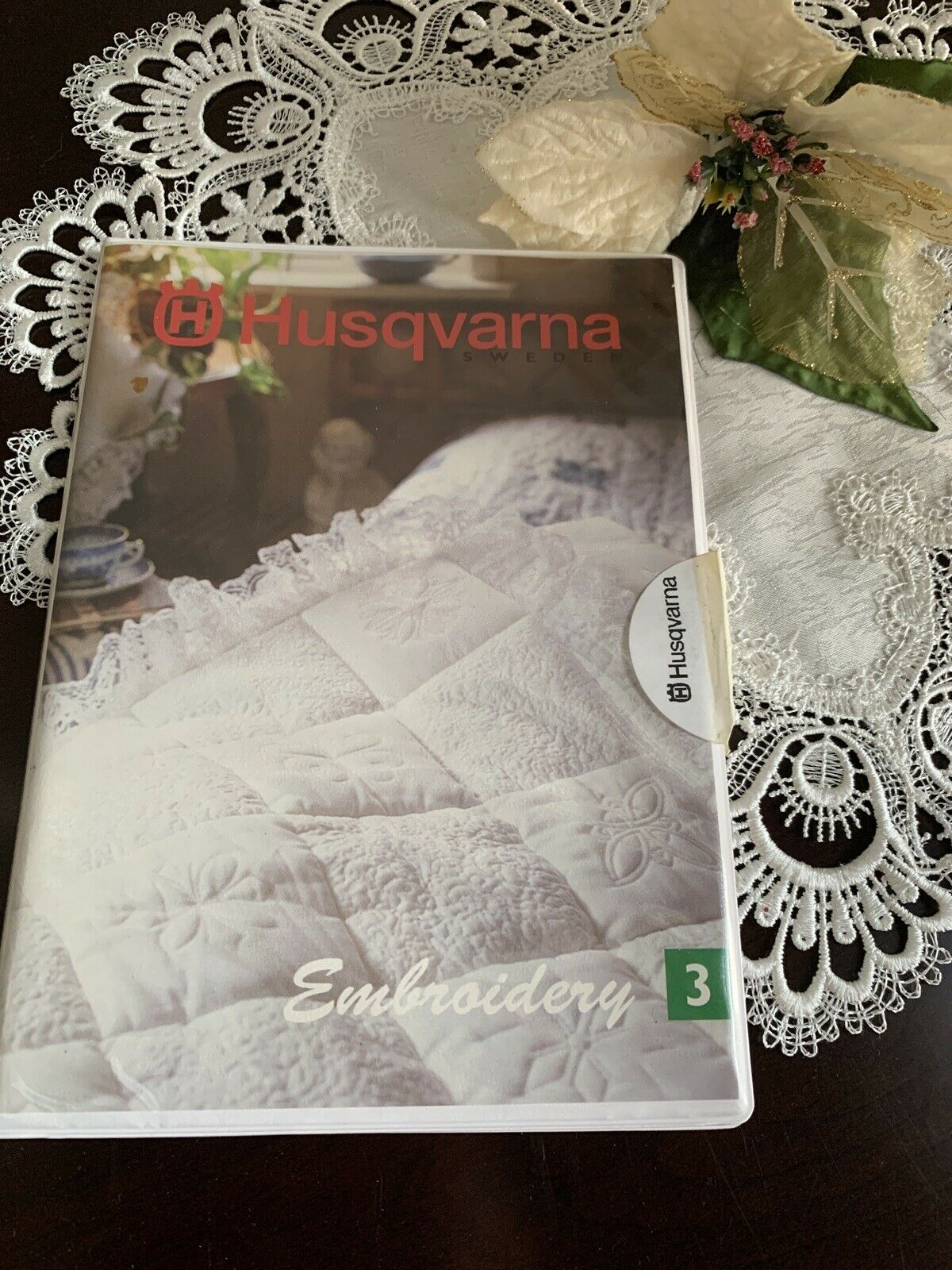 Husqvarna Viking Embroidery Card 3 Quilt Country For 1 Rose Iris For Sale Online Ebay