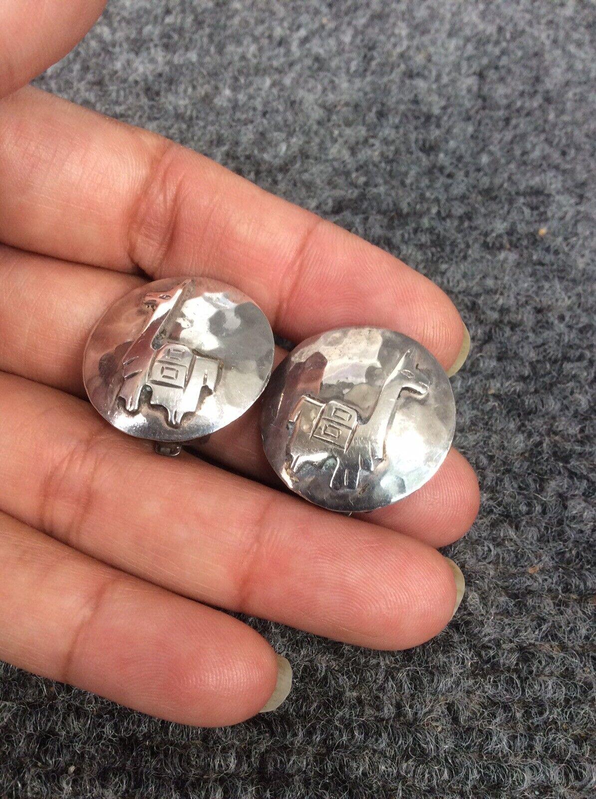 Vtg  Peru G.Laffi  sterling Silver 925 clip on ea… - image 2