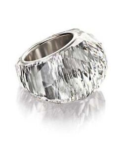 ce7930f9f53e84 NIB  199 Swarovski Large Nirvana Ring Clear Crystal Size 52(6) 55(7 ...