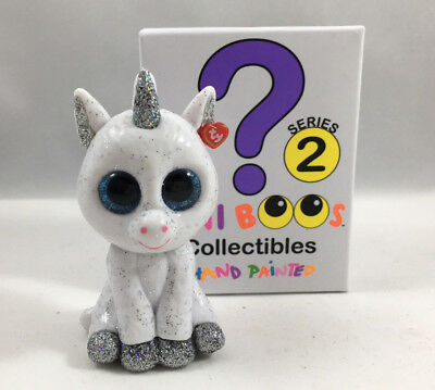 2 inch New with Box TY Mini Boo GLITTER the UNICORN SERIES 2 Collectible