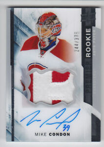 2015-16-UD-PREMIER-HOCKEY-MIKE-CONDON-RC-AUTO-PATCH-375-ROOKIE-109-Lightning