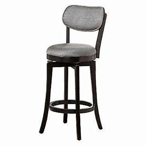 Groovy Hillsdale Sloan Swivel Counter Stool Black Andrewgaddart Wooden Chair Designs For Living Room Andrewgaddartcom