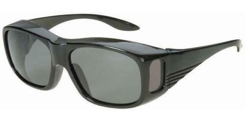 Medium Classic Shield Cover Fit Over Most Rx Glasses Smoke Sun Black//Glossy 30AF
