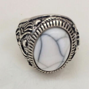 STAINLESS-STEEL-SIZE-8-WHITE-STONE-RING-GREAT-CHRISTMAS-GIFT