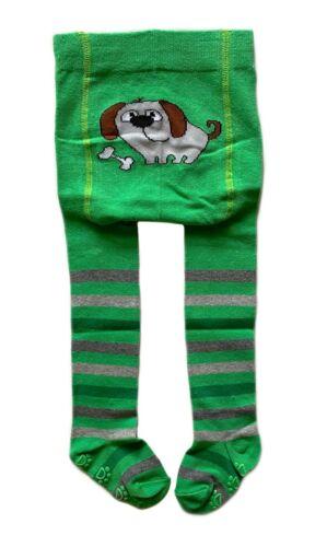80//86 °NEU° grün//Hund ABS STRUMPFHOSE Baby Kinder für Jungen /& Mädchen Gr