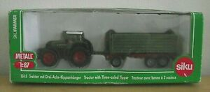 Siku 1845 - Tractor with 3 Axled Tipper Trailer - Boxed original Model (ODD134)