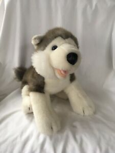 a Build a Bear Small Gray /& White Husky Puppy Dog Blue Eyes