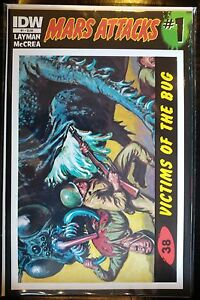 Mars-Attacks-2012-1-38-Victims-de-Insecto-Cubierta-Nm-1st-Dibujo-IDW-Topps