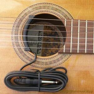 classical or acoustic guitar sound hole ceramic pickup nylon or steel strings ebay. Black Bedroom Furniture Sets. Home Design Ideas