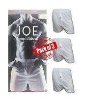 Joseph Abboud Men's 3 Pack Knit Jersey Boxers White Medium Free Shipping