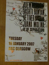 Adem + Vashti Bunyan, Vetiver - Glasgow jan.2007 tour concert gig poster
