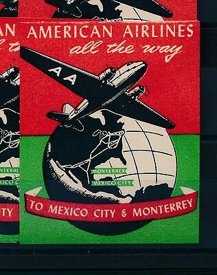 06757) Luftpost Vignette Air Mail Label, Usa > Aa All The Way... To Mexico City