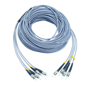 100M Indoor Armored ST-ST 6 Strand Single-Mode 9//125 Fiber Patch Cord DHL free