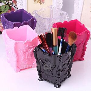 Makeup-Cosmetic-Storage-Box-Case-Holder-Brush-Pen-Pencil-Organizer-Acrylic-Clear