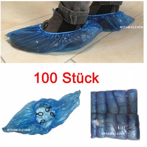 Plastikösen PE 100 Einweg Einmal Überschuhe Schuh Überzieher Schützer Schoner m