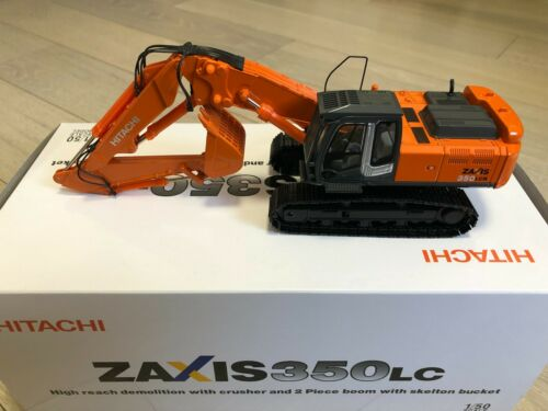Hitachi Zaxis 350lc demolition excavator with crusher and 2 piece boom 1//50