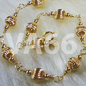 Wire-Wrapped-14K-Gold-Suasa-Anklet-Gelang-Kaki-Emas-Beads-925-Silver
