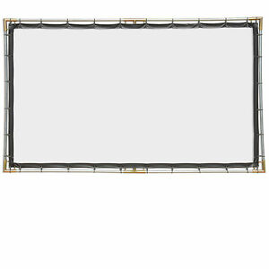 White 6x10.5 Carl's FlexiWhite 16:9 Hanging Projector Screen Kit