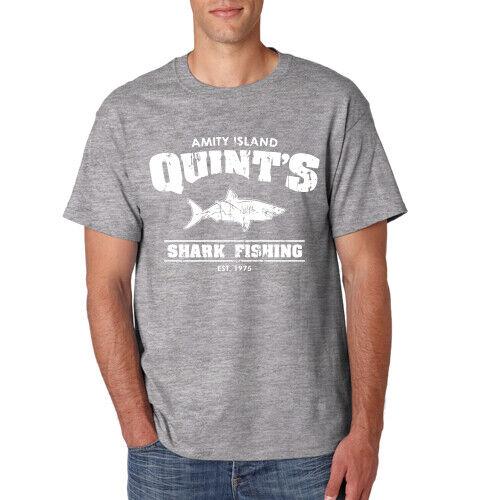 QUINT/'S AMITY ISLAND T-Shirt Jaws Movie Halloween Costume Shark Week S-6XL Tee
