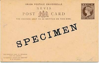 Nevis F/a Ganzsache Mit Specimen Aufdruck Liefern 602605 Sonstige Briefmarken