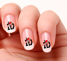 20 NAIL Art Decalcomanie Trasferimenti Adesivi # 299 - One Direction I Love One Direction
