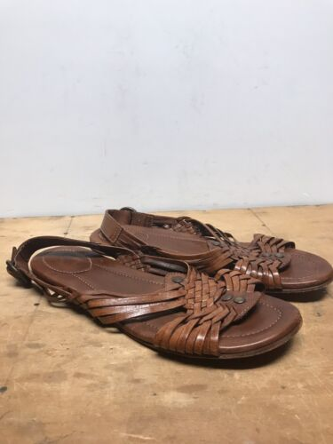 Womens 10B Frye Jacey Huarache Leather Sandals 732